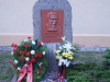 Das geschmückte Denkmal in Borsdorf