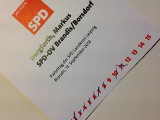 Stimmkarte Kreisparteitag
