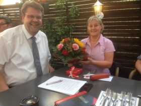 Markus Bergforth und Ulrike Wagner-Kehe Ehrung