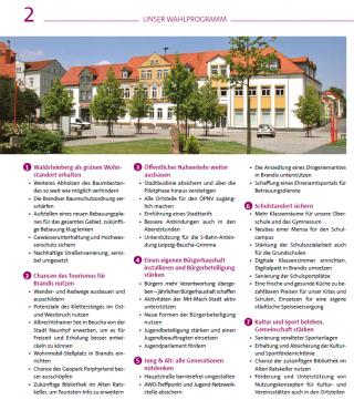SPD Brandis - Wahlzeitung Kommunalwahl 2019 - Wahlprüfsteine
